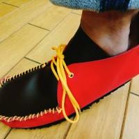 和靴・手縫い靴作り女子部:モカシンブーツ