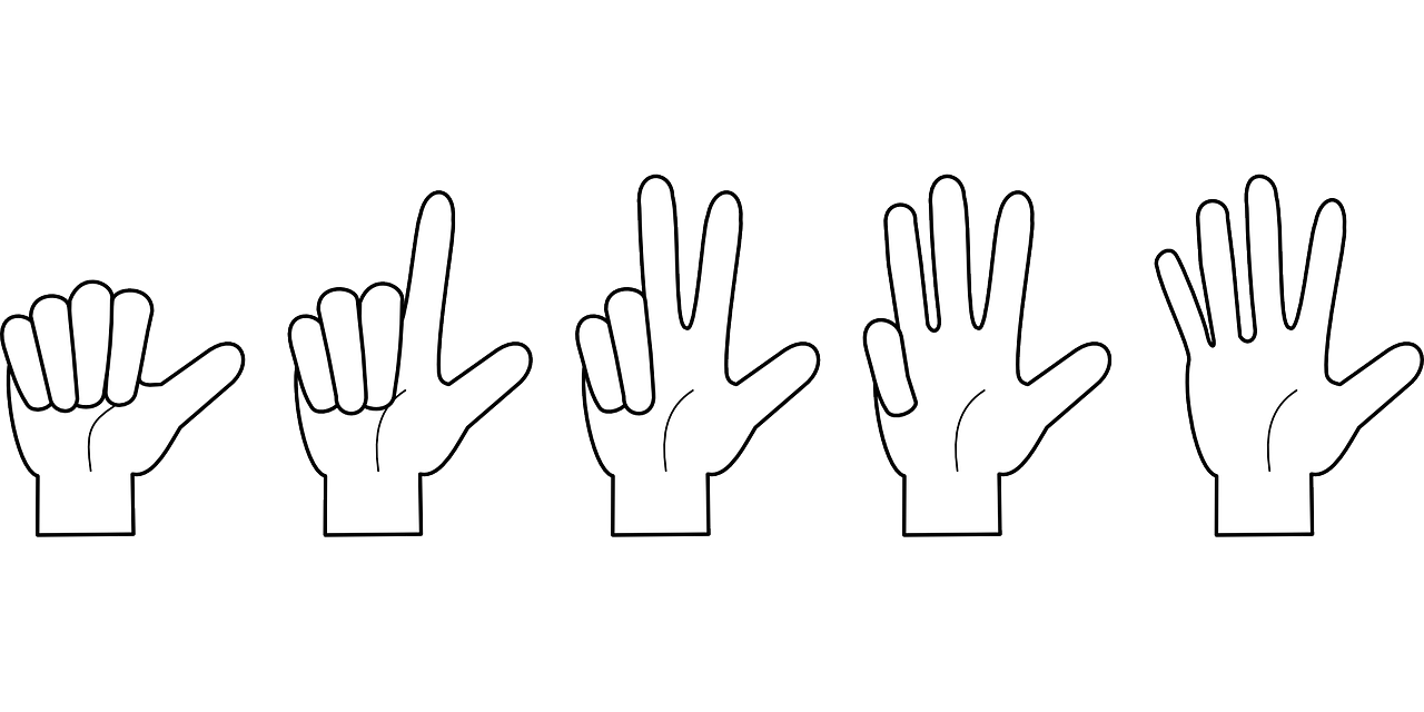 hand, counting, fingers