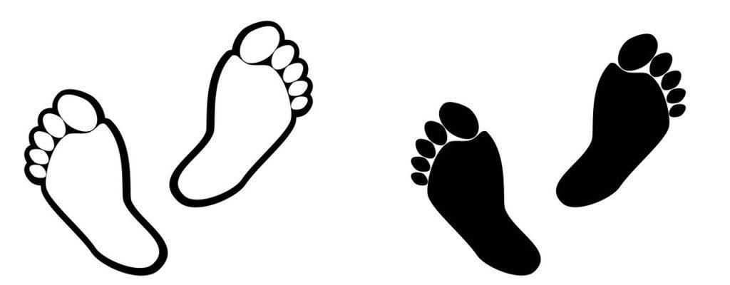 step, human, stamp